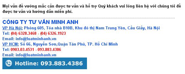 Thay đổi giấy phép kinh doanh tại Hà Nội, Luật Minh Anh